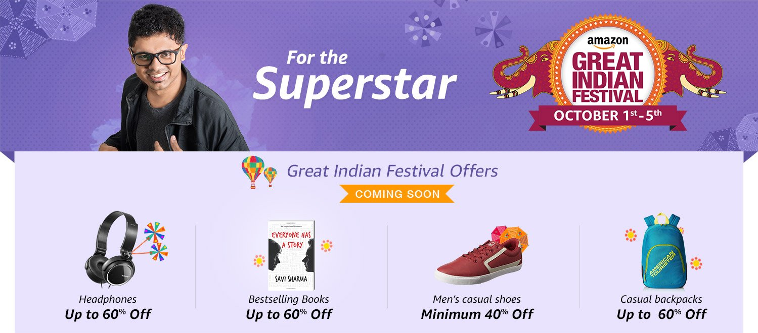 Diwali Offers & Discounts: Shop for Great Indian Diwali Deals Online India- Amazon.in