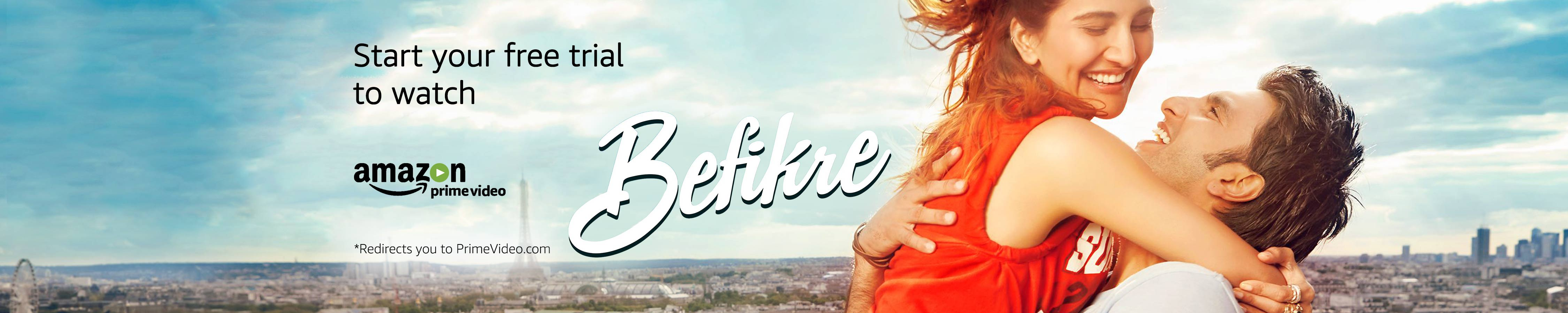 Start your free trail to watch Befikre at Amazon Prime Video
