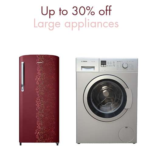 Large Appliances: Up to 30% off