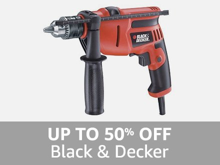 Black & Decker: Up to 50% off