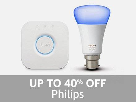 Philips: Up to 40% off