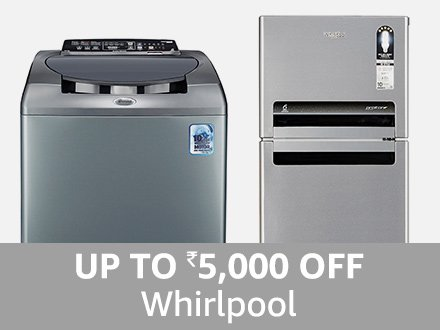 Whirlpool: Up to ₹ 5000 off