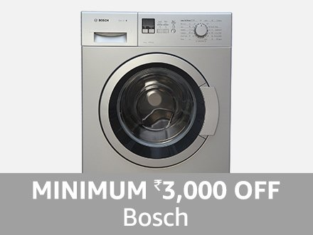 Bosch: Minimum ₹3000 off