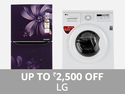 LG: Up to ₹ 2,500 off