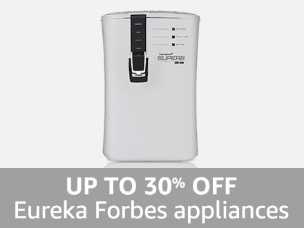 Eureka Forbes Appliances: Up to 30% off