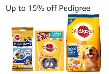 Up to 15% off Pedigree