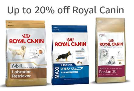 Up to 20% off Royal Canin