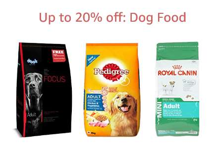 Up to 20% off: Dog Food