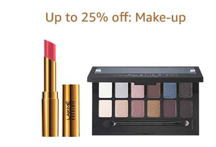 Up to 25% off: Make-up