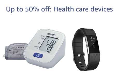 Up to 50% off: Health care devices