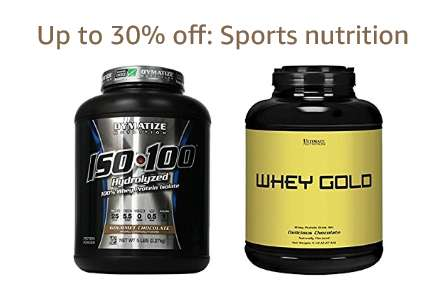 Up to 30% off: Sports nutrition