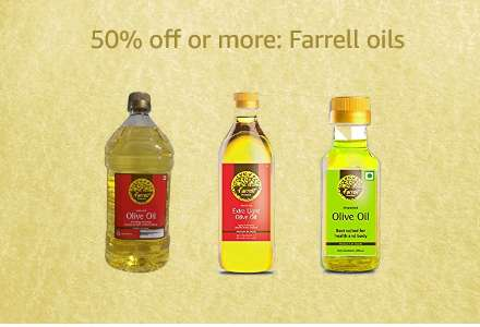 50% off or more: Farrell oils
