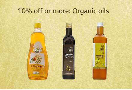 10% off or more: Organic oils