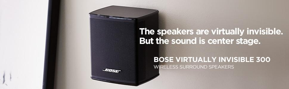bose virtually invisible 300 wireless surround speakers black price buy bose virtually. Black Bedroom Furniture Sets. Home Design Ideas
