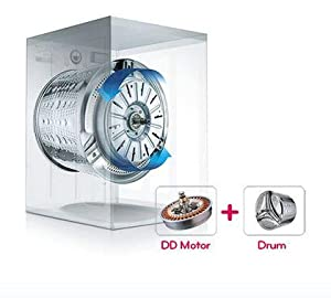 in lg washing machine with inverter direct drive technology the motor is directly attached to the drum without using a belt or pulley