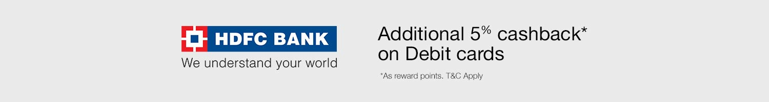 Amazon: Additional 5% cashback on HDFC Bank Debit cards