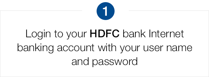Login to your HDFC internet banking account