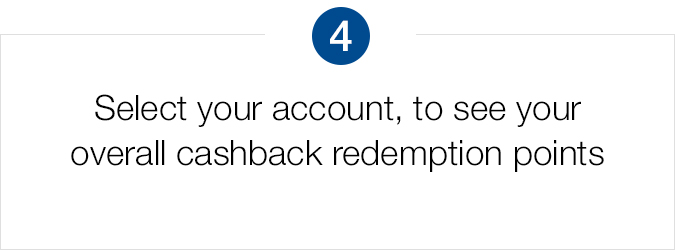 Select your account to see redemption points