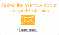 Sign up to know about deals in Electronics