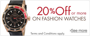 20% Off or more on Fashion Watches