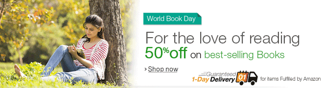 World Book Day - 50% off on best-selling books