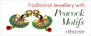 Fashion Jewellery with peacock motifs