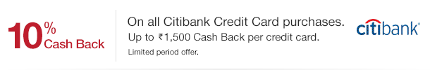 AMAZON: 10% Cashback on CitiBank Cards