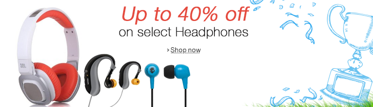 Up to 40% off on Headphones