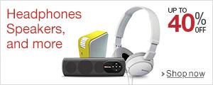 up to 40 off on popular headphones speakers. Black Bedroom Furniture Sets. Home Design Ideas