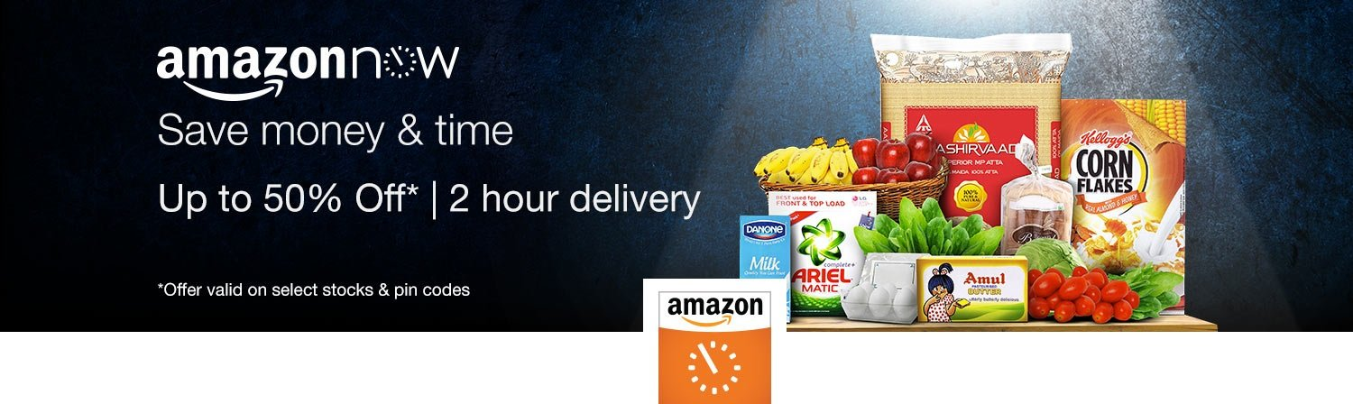 Amazon Now - Daily Essentials in 2 Hours