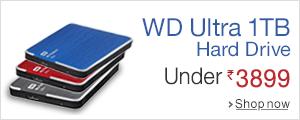 wd ultra 1 tb under rs 3899. Black Bedroom Furniture Sets. Home Design Ideas