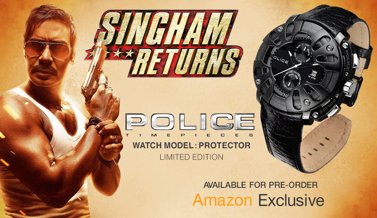 Preorder Singham Return Police Watch @ Rs 17,995 : Amazon Exclusive