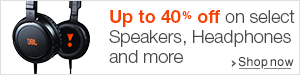 Up to 40% off on Speakers, Headphones and more