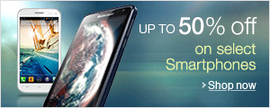 Up to 50% off on select Mobiles