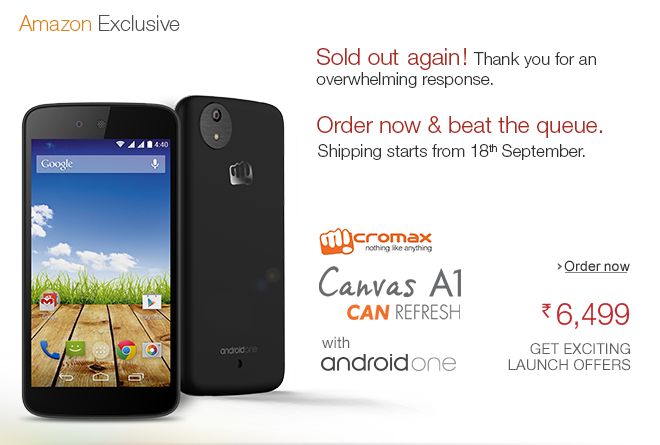 Amazon Exclusive: Micromax A1 Smartphone