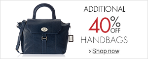 Handbags: Additional 40% off
