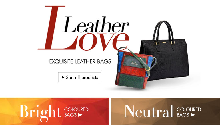 Leather Bags for Men & Women : Buy Leather Handbags & Wallets ...