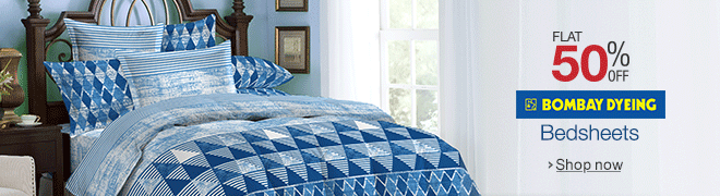 Amazon Bombay Dyeing Bedsheet Sale Flat 50% Discount Starts at Rs 399 only