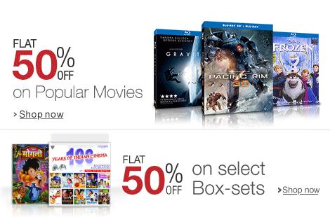 Freedom Sale - Flat 50% off on Popular Movies