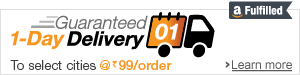 Guaranteed One Day Delivery in select cities at Rs.99 for items fulfilled by Amazon