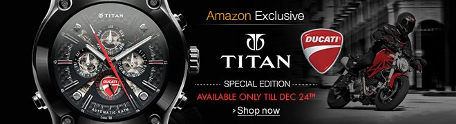 Ducati by Titan: Available only on Amazon