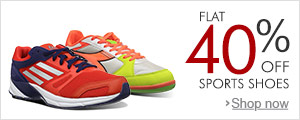 Flat 40% Off select Sports Shoes