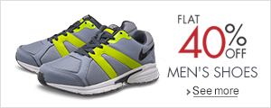 Flat 40% Off Men's Shoes