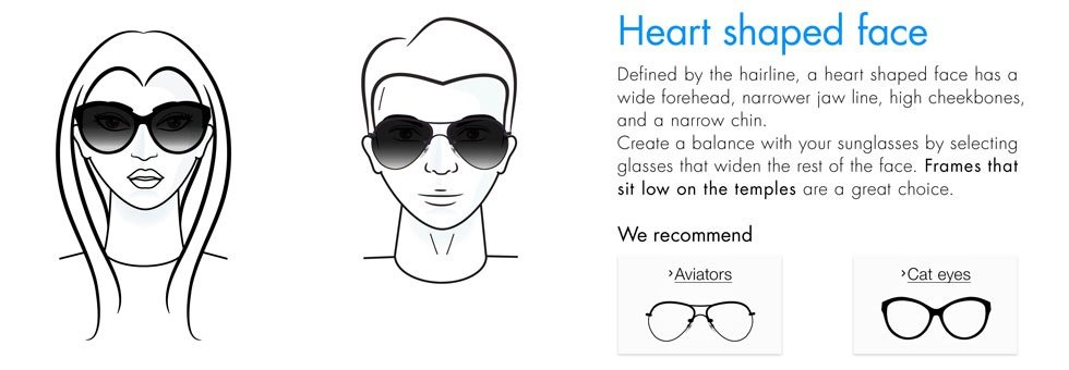 Eyeglass Frames Heart Shaped Face : Amazon.in: Sunglasses Buying Guide: Clothing & Accessories