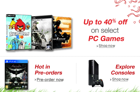40% Off on Video Games and Consoles PS3, PS4 at Amazon India