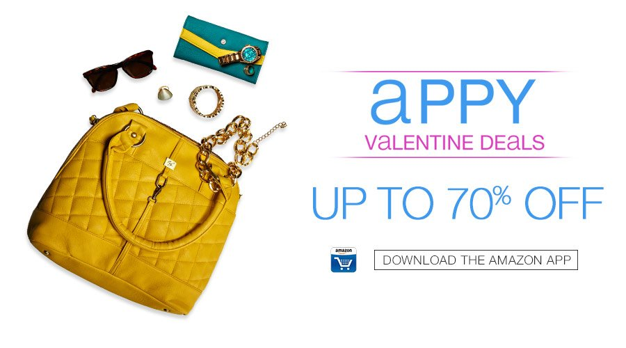 Amazon: Appy Valentine Deals – Up To 70% OFF    Only On Amazon App