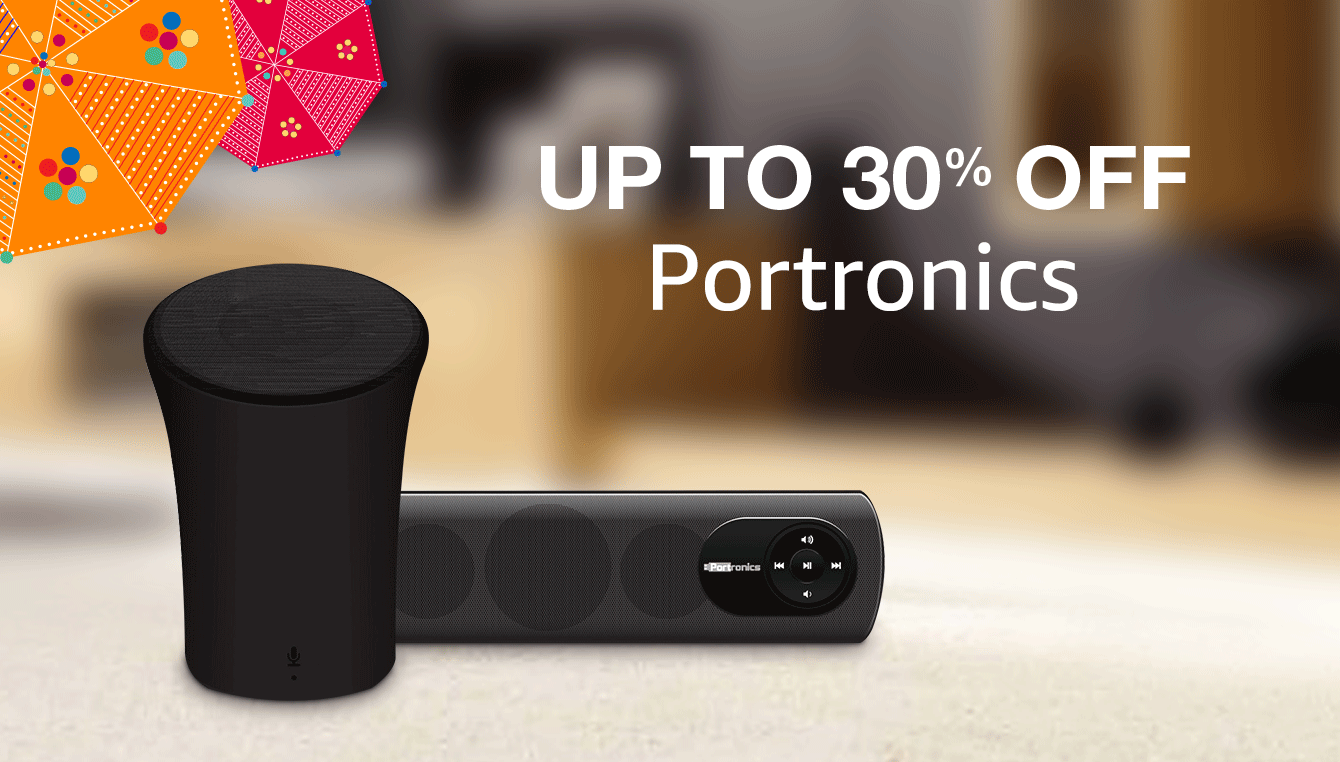 Portronics up to 30% discount