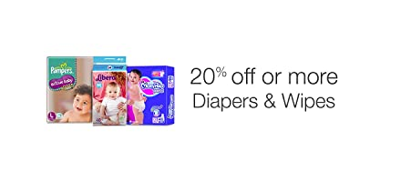 20% off or more on Diapers & Wipes