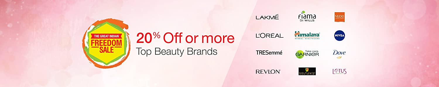 20% off or more across Major Beauty Brands