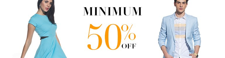 Flat 50% off Fashion